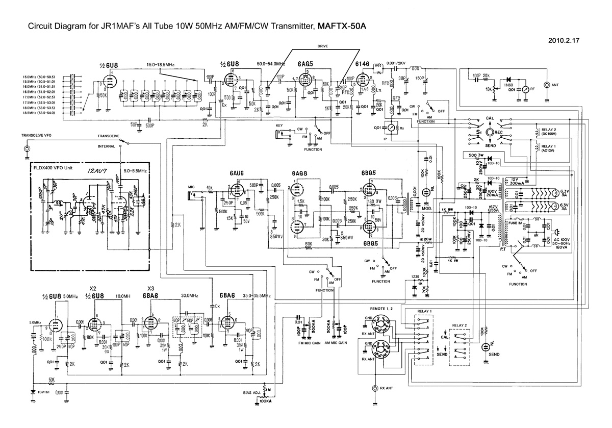 Mafnet Hamradio All Tube 50mhz Am Fm Cw Heterodyne Transmitter Block Diagram Of This Is A Schematic I Studied Taking Many Hours And Decided Star The Thing From